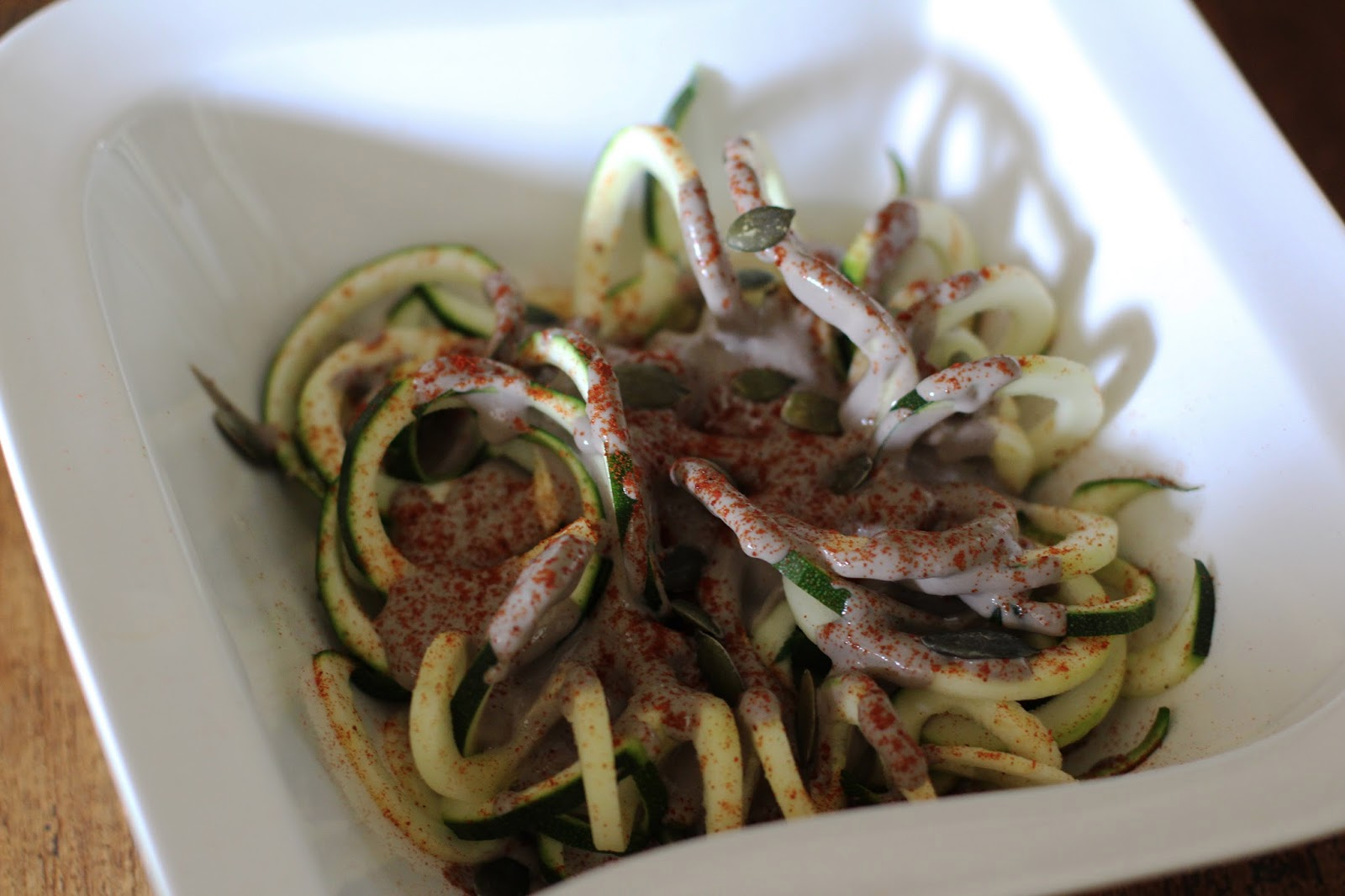 Mushroom Ragout with Courgette Noodles